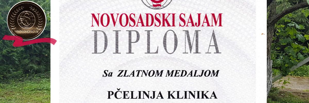 Zlatna medalja novosadski sajam, za kvalitet zdravstveno-ruralnog turizma