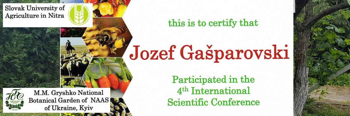 Slovački poljoprivredni univerzitet iz Nitre  za učešće na 4toj međunarodnoj konferenciji