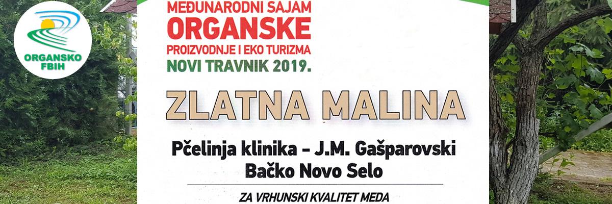 Međunarodni sajam organske proizvodnje BiH Novi Travnik, zlatna nagrada za kvalitet meda
